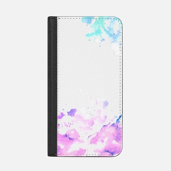 Rainbow Watercolor splashes paint splatter colorful see through