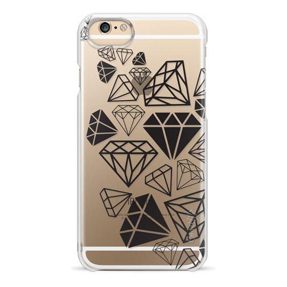 iPhone 6s Cases - Black Diamonds Shine Bright Girly Girl Fun Bling Glamorous
