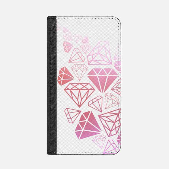 Pink Ombre Diamonds Shine Bright Girly Girl Fun Bling Glamorous