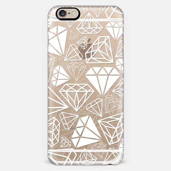 White Transparent Diamonds Shine Bright Girly Girl Fun Bling Glamorous -