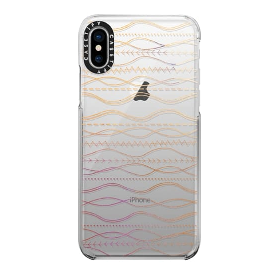 iPhone X Cases - Watercolor Boho Waves bohemian gypsy