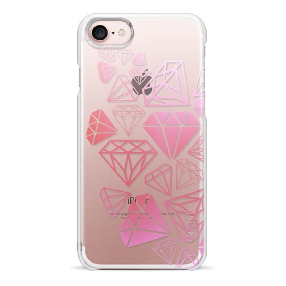 iPhone 7 Cases - Pink Ombre Diamonds Shine Bright Girly Girl Fun Bling Glamorous
