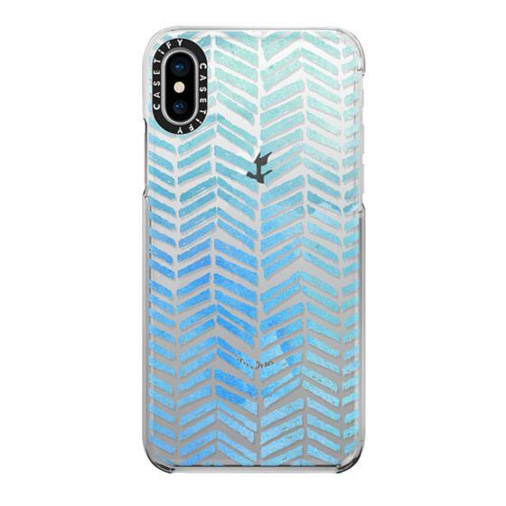 iPhone X Cases - Watercolor Chevron