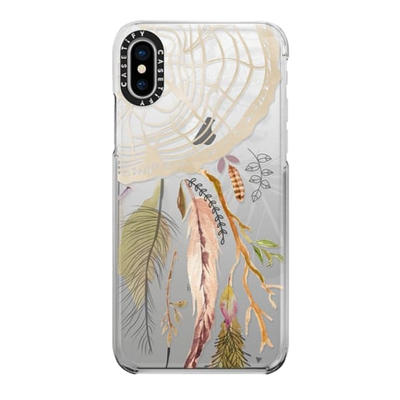 iPhone X Cases - Dream Catcher weaver hippie feathers dreamer earthy natural boho bohemian artsy