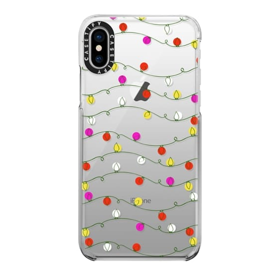 iPhone X Cases - Christmas Lights Candy Colored Bright Holiday