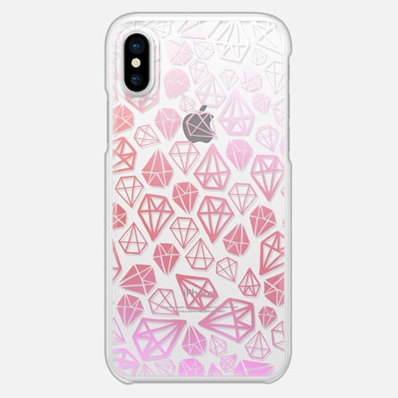 Pink Diamonds | Geometric girly boho bohemian chic white sketch