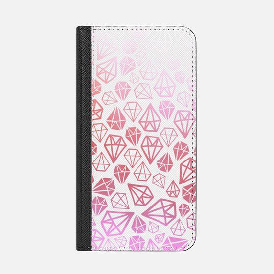 Pink Diamonds   Geometric girly boho bohemian chic white sketch