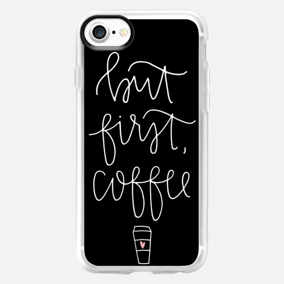 but first coffee - black + mug - Wallet Case