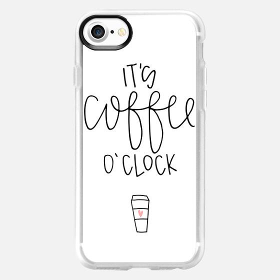 It's coffee o'clock - white - Wallet Case