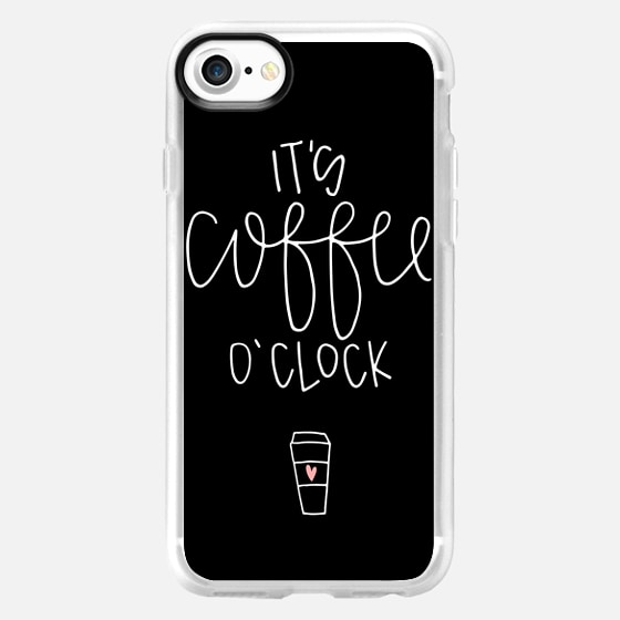 It's coffee o'clock - black - Snap Case