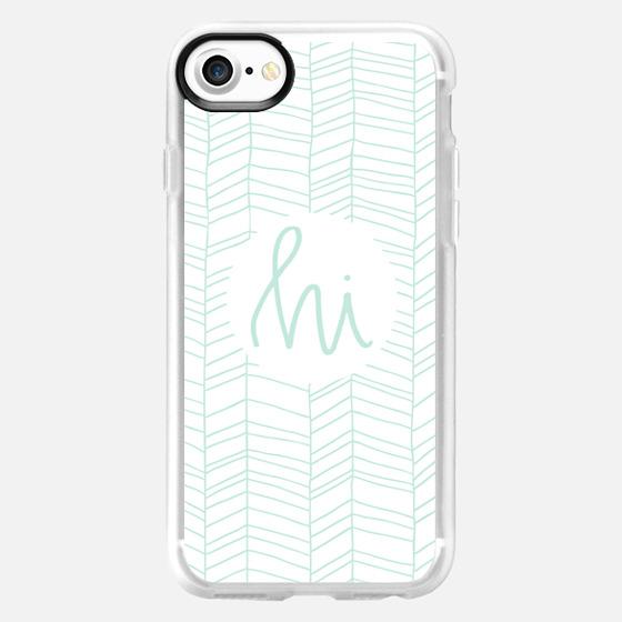 Hi - Mint lines - Snap Case