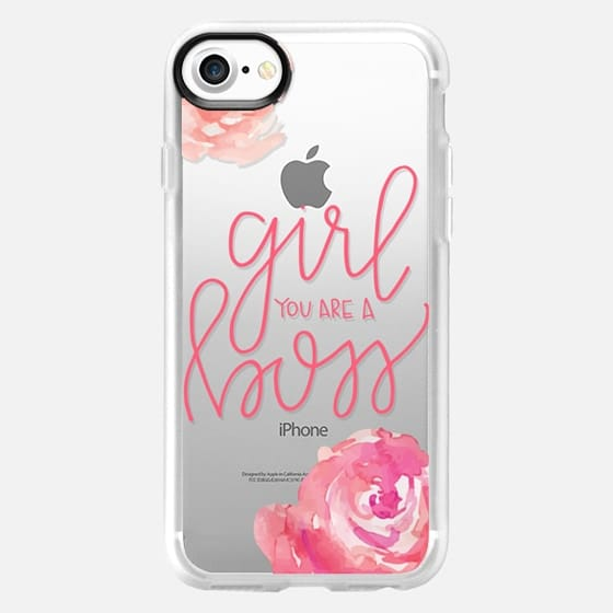 Peonies - Girl you are a boss - Snap Case