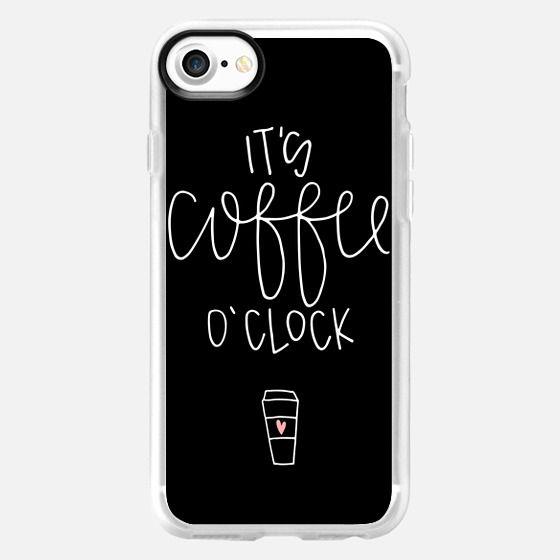 It's coffee o'clock - black - Snap Case