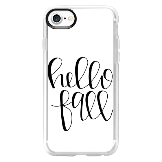 iPhone 7 Cases - Hello Fall - White