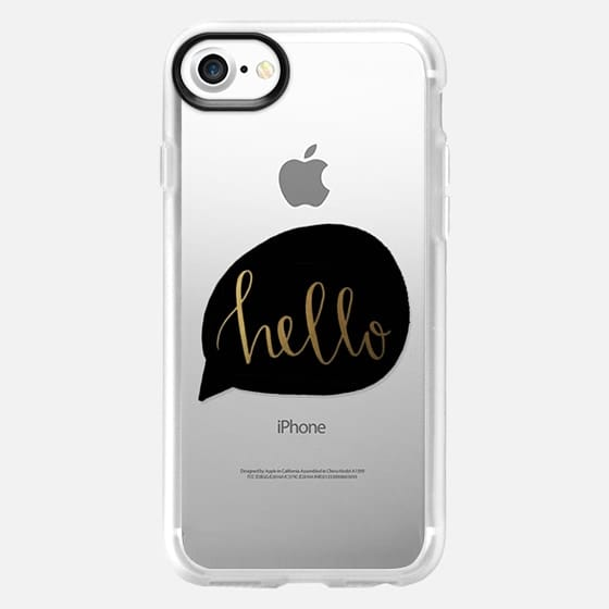 hello - black and gold - Snap Case