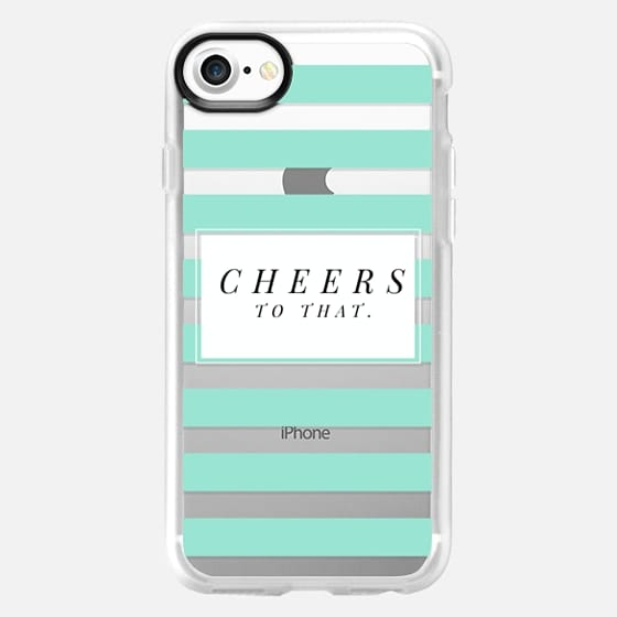 Cheers to that - transparent stripe - Snap Case
