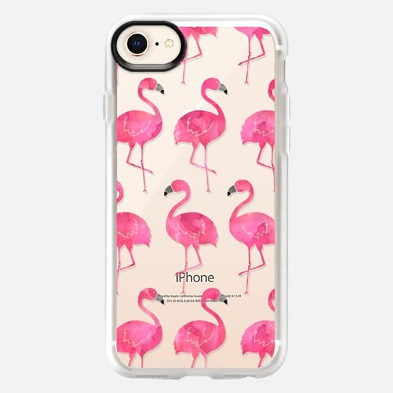 Watercolor Flamingos - Snap Case