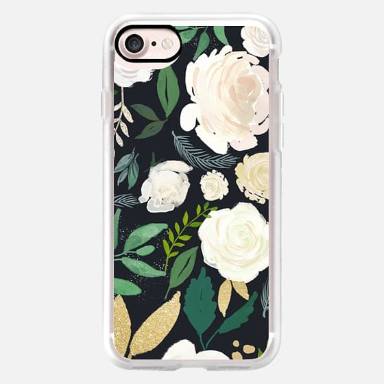 Black and Gold Floral - Snap Case