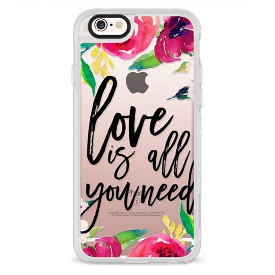 iPhone 6s Cases - Love is all you need - Floral - Transparent