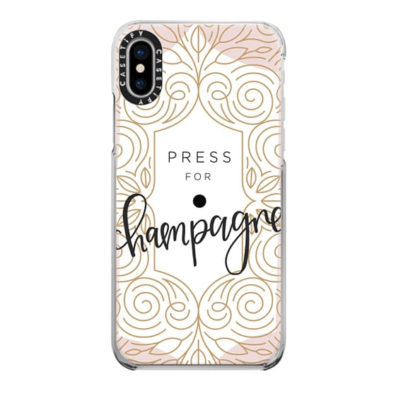 iPhone X Cases - Press For Champagne - Art Deco