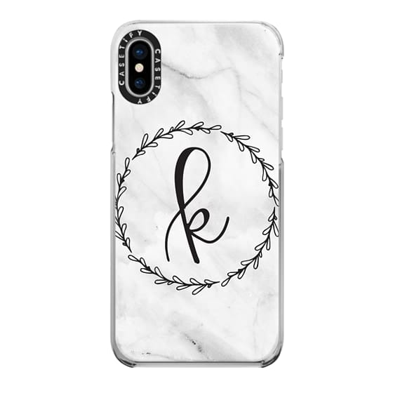 iPhone X Cases - K Monogram - Marble