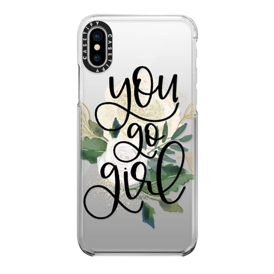 iPhone X Cases - You Go Girl - Flower