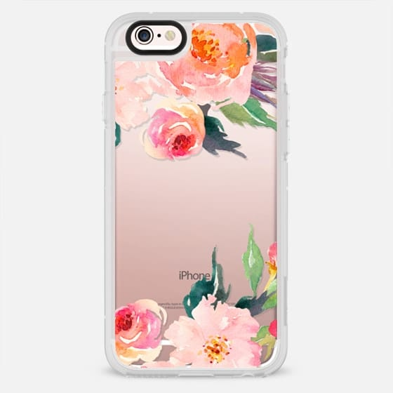 Watercolor Floral Detail Pink Transparent - New Standard Case