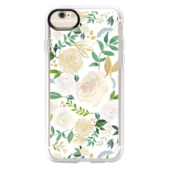 iPhone 6 Cases - White and Gold Floral