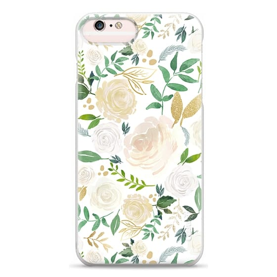 iPhone 6s Plus Cases - White and Gold Floral