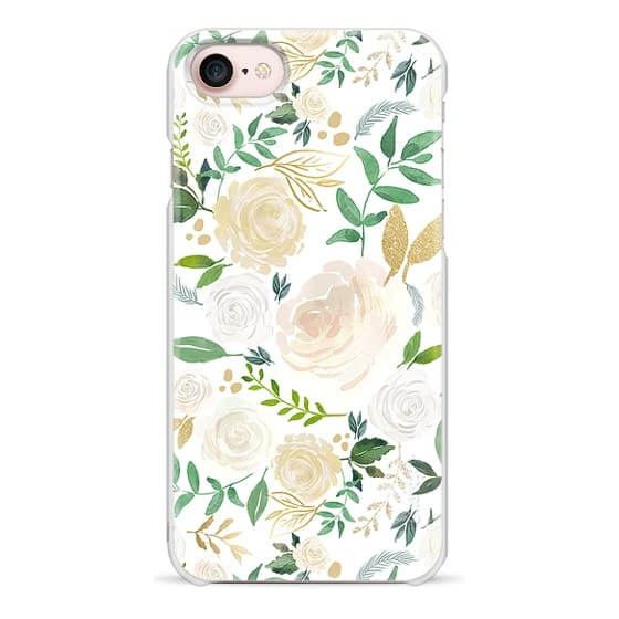 iPhone 7 Cases - White and Gold Floral