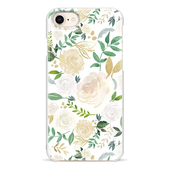 iPhone 8 Cases - White and Gold Floral