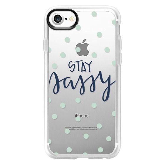 best service 091de bd07a Classic Grip iPhone 7 Case - stay sassy - mint dots