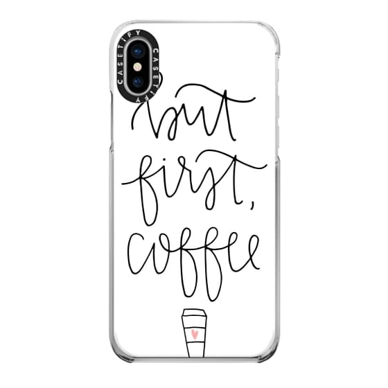 iPhone X Cases - But first coffee - white + mug