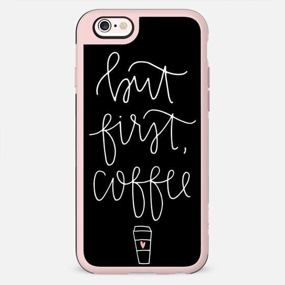 but first coffee - black + mug - New Standard Case