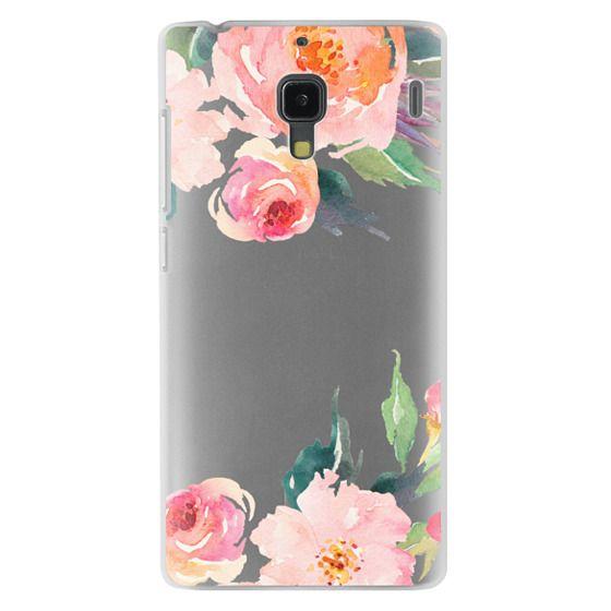 Redmi 1s Cases - Watercolor Floral Detail Pink Transparent