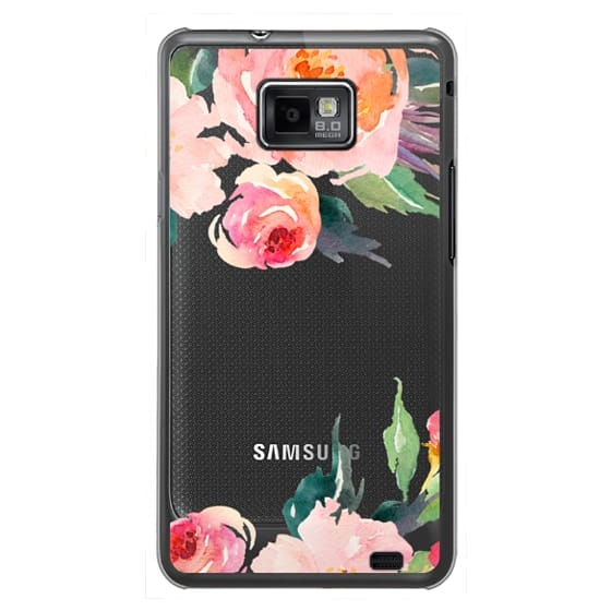 Samsung Galaxy S2 Cases - Watercolor Floral Detail Pink Transparent