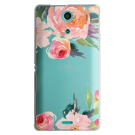 Sony Zr Cases - Watercolor Floral Detail Pink Transparent