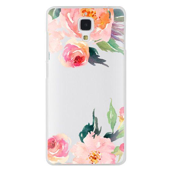 Xiaomi 4 Cases - Watercolor Floral Detail Pink Transparent