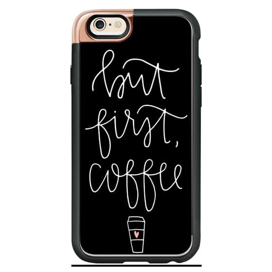 iPhone 4 Cases - but first coffee - black + mug