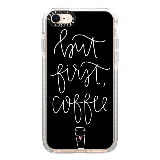 iPhone 8 Cases - but first coffee - black + mug