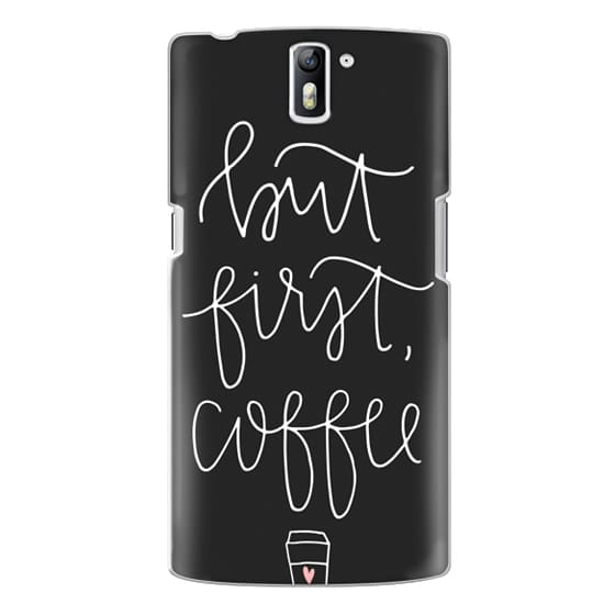 One Plus One Cases - but first coffee - black + mug