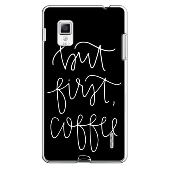 Optimus G Cases - but first coffee - black + mug