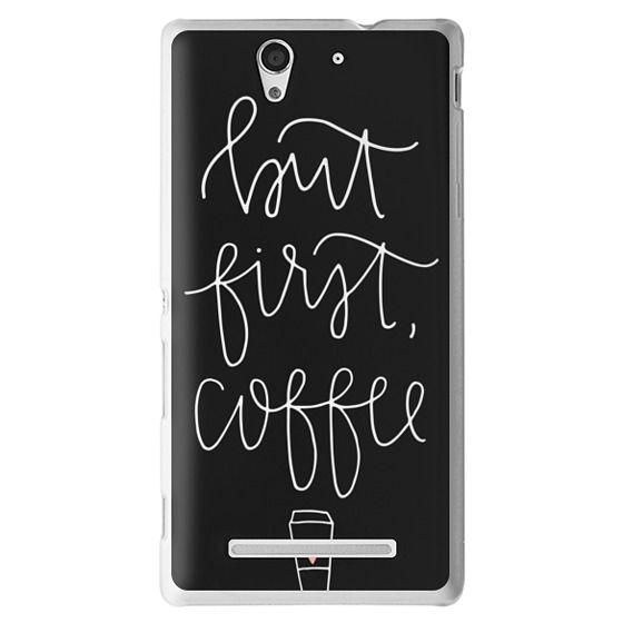 Sony C3 Cases - but first coffee - black + mug
