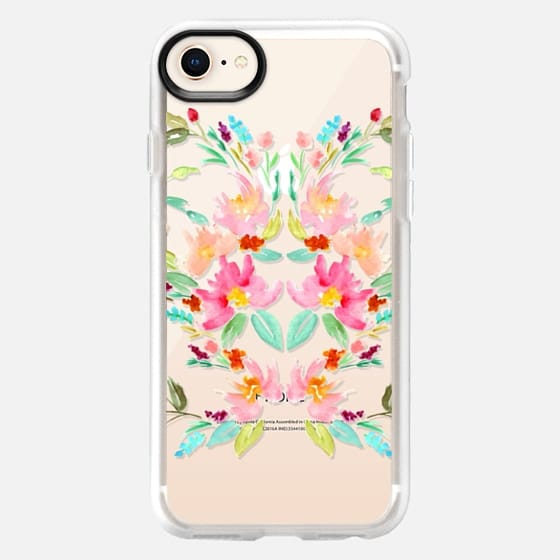 Floral Rorschach Inspired Pattern - Transparent - Snap Case