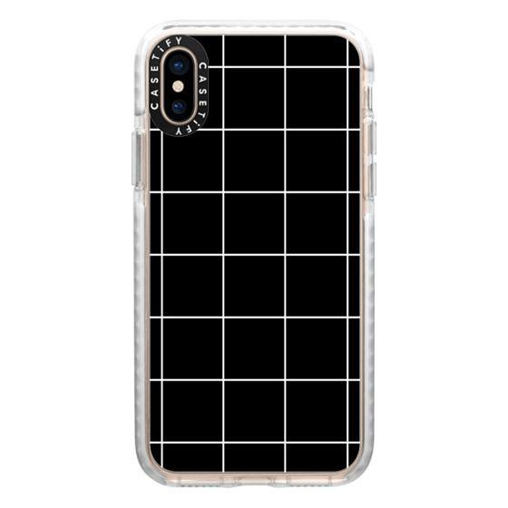 iPhone XS Cases - black squares