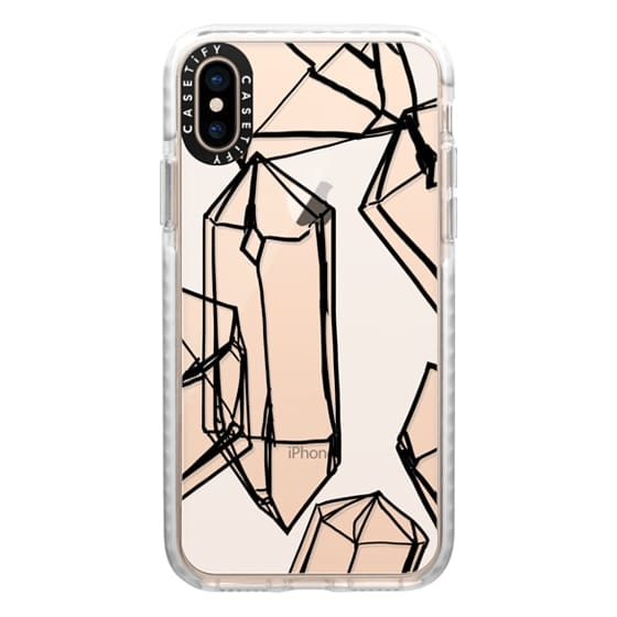 iPhone XS Cases - falling crystals