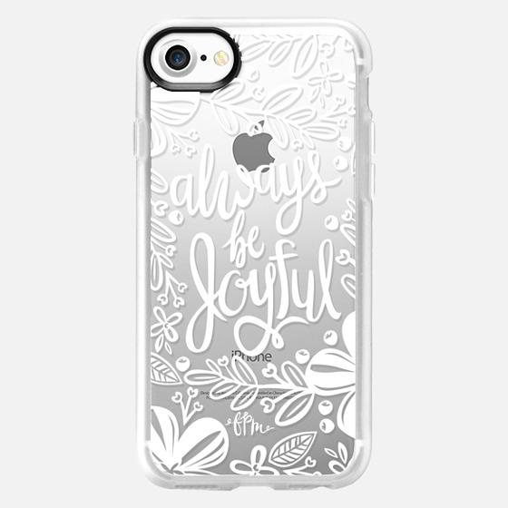 Always Be Joyful - White - Wallet Case