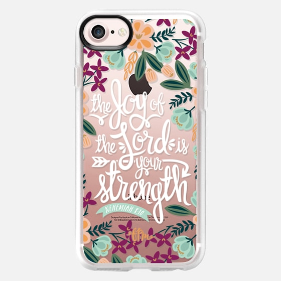 The Joy of the Lord - White Words - Classic Grip Case