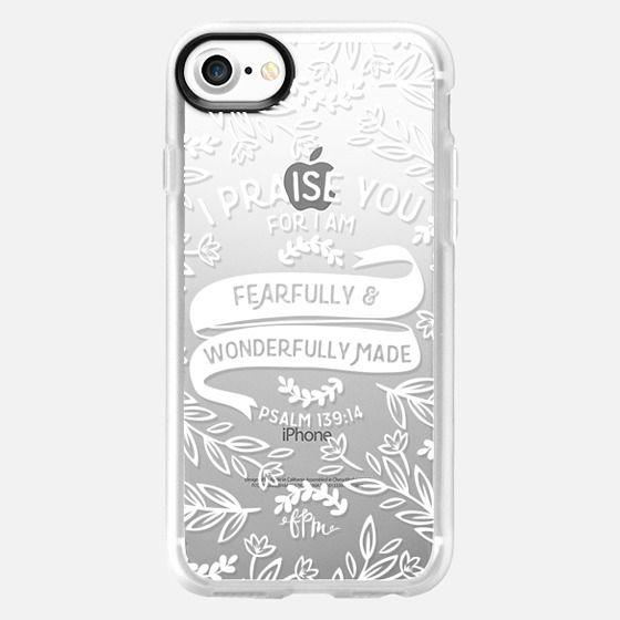 Fearfully & Wonderfully Made - White - Snap Case