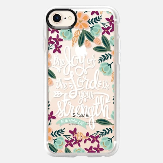 The Joy of the Lord - White Words - Snap Case
